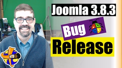 Joomla 3.8.3 bug release is out today